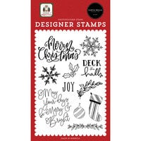 Carta Bella Paper - Home For Christmas Collection - Clear Photopolymer Stamps - Joy