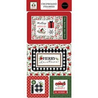 Carta Bella Paper - Home For Christmas Collection - Chipboard Embellishments - Frames