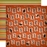 Carta Bella Paper - Haunted House Collection - Halloween - 12 x 12 Double Sided Paper - Halloween Letters