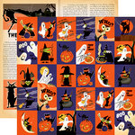 Carta Bella Paper - Haunted House Collection - Halloween - 12 x 12 Double Sided Paper - Journaling Cards