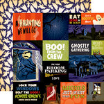 Carta Bella Paper - Haunted House Collection - Halloween - 12 x 12 Double Sided Paper - Multi Journaling Cards