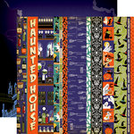 Carta Bella Paper - Haunted House Collection - Halloween - 12 x 12 Double Sided Paper - Border Strips