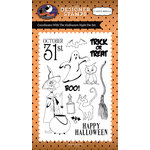 Carta Bella Paper - Haunted House Collection - Halloween - Clear Acrylic Stamps - Halloween Night