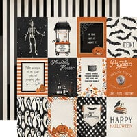 Carta Bella Paper - Halloween Market Collection - 12 x 12 Double Sided Paper - 3 x 4 Journaling Cards