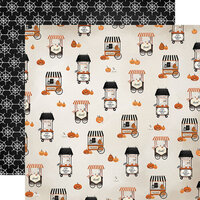 Carta Bella Paper - Halloween Market Collection - 12 x 12 Double Sided Paper - Candy Carts