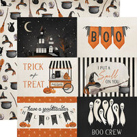 Carta Bella Paper - Halloween Market Collection - 12 x 12 Double Sided Paper - 4 x 6 Journaling Cards