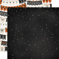 Carta Bella Paper - Halloween Market Collection - 12 x 12 Double Sided Paper - Night Sky