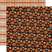 Carta Bella Paper - Halloween Market Collection - 12 x 12 Double Sided Paper - Pumpkins