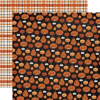 Carta Bella Paper - Halloween Market Collection - 12 x 12 Double Sided Paper - Pumpkins
