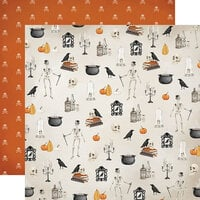 Carta Bella Paper - Halloween Market Collection - 12 x 12 Double Sided Paper - Haunted Nights