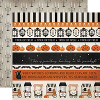 Carta Bella Paper - Halloween Market Collection - 12 x 12 Double Sided Paper - Border Strips