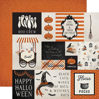 Carta Bella Paper - Halloween Market Collection - 12 x 12 Double Sided Paper - Multi Journaling Cards