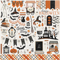 Carta Bella Paper - Halloween Market Collection - 12 x 12 Cardstock Stickers - Elements
