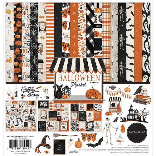 Carta Bella Paper - Halloween Market Collection - 12 x 12 Collection Kit