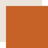 Carta Bella Paper - Halloween Market Collection - 12 x 12 Double Sided Paper - Dark Orange