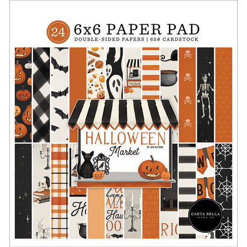 Carta Bella Paper - Halloween Market Collection - 6 x 6 Paper Pad