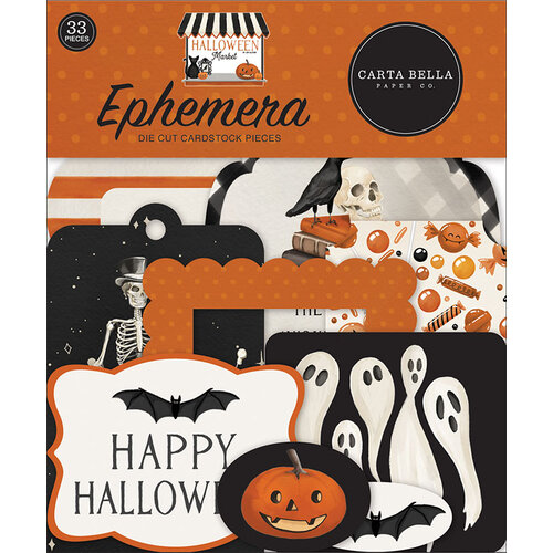 Carta Bella Paper - Halloween Market Collection - Ephemera
