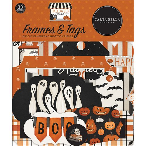 Carta Bella Paper - Halloween Market Collection - Ephemera - Frames and Tags