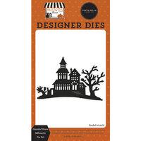 Carta Bella Paper - Halloween Market Collection - Designer Dies - Haunted House Silhouette