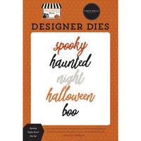 Carta Bella Paper - Halloween Market Collection - Designer Dies - Spooky Night Word