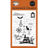 Carta Bella Paper - Halloween Market Collection - Clear Photopolymer Stamps - Haunted Night