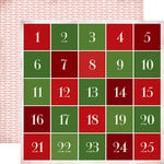 Carta Bella - Have a Merry Christmas Collection - 12 x 12 Double Sided Paper - Advent Calendar
