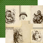 Carta Bella - Have a Merry Christmas Collection - 12 x 12 Double Sided Paper - Vintage Santas