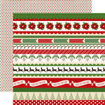 Carta Bella - Have a Merry Christmas Collection - 12 x 12 Double Sided Paper - Christmas Borders