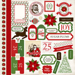 Carta Bella - Have a Merry Christmas Collection - 12 x 12 Cardstock Stickers - Elements