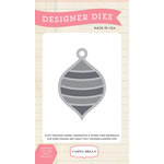 Carta Bella - Have a Merry Christmas Collection - Designer Dies - Striped Ornament