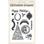 Carta Bella - Have a Merry Christmas Collection - Clear Acrylic Stamps - Happy Christmas
