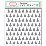 Carta Bella - Have a Merry Christmas Collection - 6 x 6 Stencil - Winter Trees