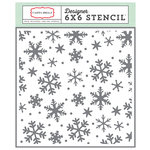 Carta Bella - Have a Merry Christmas Collection - 6 x 6 Stencil - Snowflakes 3