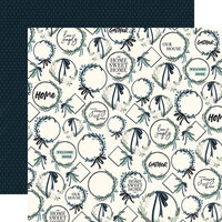 Carta Bella Paper - Home Again Collection - 12 x 12 Double Sided Paper - Wreaths