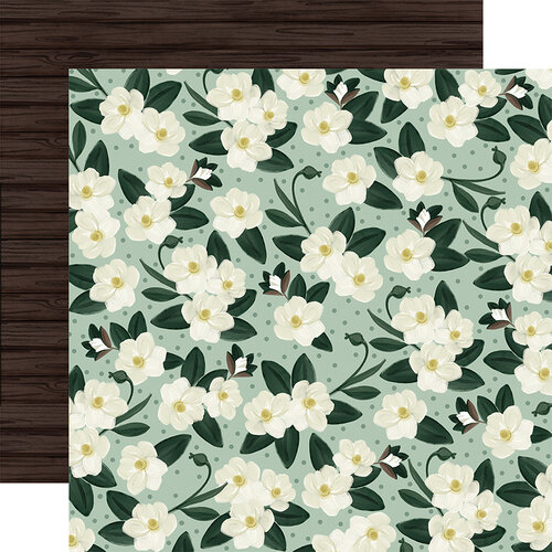 Carta Bella Paper - Home Again Collection - 12 x 12 Double Sided Paper - Magnolias