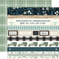 Carta Bella Paper - Home Again Collection - 12 x 12 Double Sided Paper - Border Strips