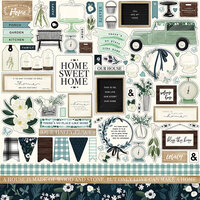 Carta Bella Paper - Home Again Collection - 12 x 12 Cardstock Stickers - Elements