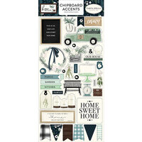Carta Bella Paper - Home Again Collection - Chipboard Stickers - Accents