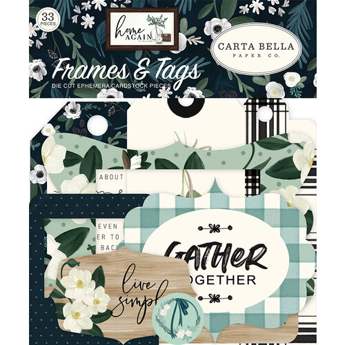 Carta Bella Paper - Home Again Collection - Ephemera - Frames and Tags
