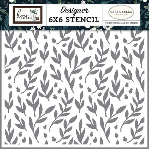 Carta Bella Paper - Home Again Collection - 6 x 6 Stencil - Gather Branches