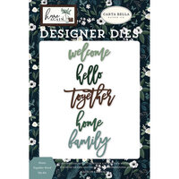 Carta Bella Paper - Home Again Collection - Designer Dies - Home Together Word