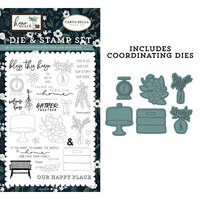 Carta Bella Paper - Home Again Collection - Designer Dies and Clear Photopolymer Stamps - Gather Together