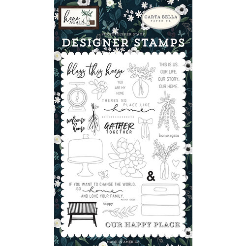 Carta Bella Paper - Home Again Collection - Clear Photopolymer Stamps - Gather Together