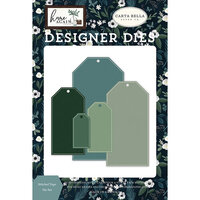 Carta Bella Paper - Home Again Collection - Designer Dies - Stitched Tags