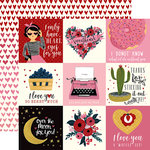 Carta Bella Paper - Hello Sweetheart Collection - 12 x 12 Double Sided Paper - 4 x 4 Journaling Cards