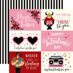 Carta Bella Paper - Hello Sweetheart Collection - 12 x 12 Double Sided Paper - 4 x 6 Journaling Cards