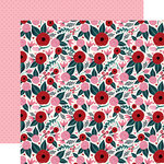 Carta Bella Paper - Hello Sweetheart Collection - 12 x 12 Double Sided Paper - Sweetheart Floral