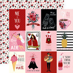 Carta Bella Paper - Hello Sweetheart Collection - 12 x 12 Double Sided Paper - 3 x 4 Journaling Cards