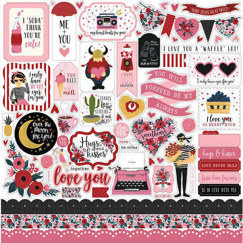 Carta Bella Paper - Hello Sweetheart Collection - 12 x 12 Cardstock Stickers