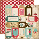 Carta Bella Paper - Home Sweet Home Collection - 12 x 12 Double Sided Paper - Baking Tags